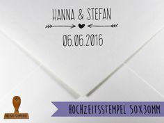 Einladungskarten - Stempel Hochzeit - ein Designerstück von Bellyys bei DaWanda