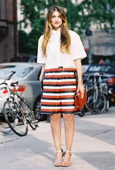 Your Complete Guide To What Shoes To Wear With Shorts via @WhoWhatWear
