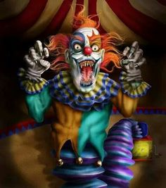 Love clowns w pointed teeth
