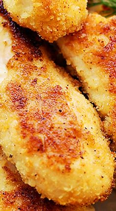 Parmesan-Crusted Chicken Tenders Buttermilk Ranch Dressing