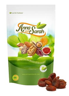 Anna and Sarah Organic Apricots in resealable bag. Best nutrition and quality for you. Always fresh! #apricots #driedfruits #nuts #organic #healthysnacks #nutrition #turkishapricots #recipe #annaandsarah