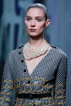 that pearl necklace by Dior