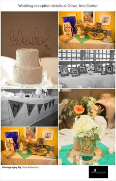 Wedding reception detail photography at Oliver Art Center in Frankfort Michigan by Paul Retherford #Frankfort #Wedding #OliverArtCenter