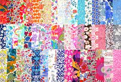 Liberty Fabric Scrap Pack 51 Piece Ideal for by PickClickSew