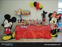 mickey mouse clubhouse birthday - Bing Images... large cutouts and other ideas