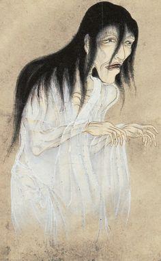 『百怪図巻』より「ゆふれゐ (幽霊)」1737年頃 Woman ghost