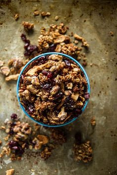 Apple Cider Granola with Candied Walnuts