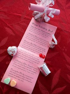 Valentines:  Cute gift idea - reminders that God loves you