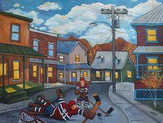 hockey Awesome Art, Cool Art, Hockey Girls, Room Paint, Montreal, Vintage Art, Images, Painting, Symbols