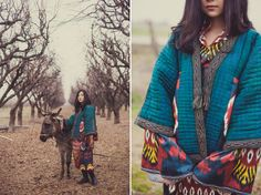 Silk Ikat dress, ethnic textiles, Uzbekistan. Photo by Diana Ibragimova.