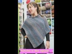 DIY. Como tejer un poncho.Muy fácil! //How to knit a poncho.Very easy! - YouTube