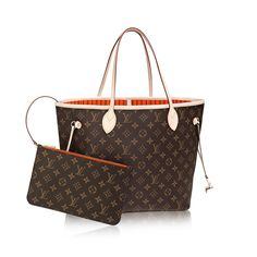 Louis Vuitton Neverfull MM $1260.00  Louis Vuitton celebrates the Neverfull with a new version of this iconic bag. Look inside to discover a host of refinements. The redesigned interior features a fresh textile lining and heritage details inspired by House archives. Best of all, the removable zippered clutch can be carried separately as a chic pochette or serve as an extra pocket. Linings in a selection of bright shades lend a pop of vivid color to the timeless Monogram canvas.