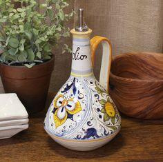 Palmetta Persiana Ceramic Oil Cruet - Fatto a Mano Antiques - 1