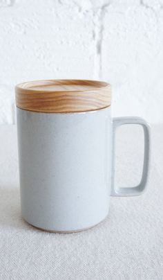Hasami Porcelain Mug & Lid / Coaster // $18
