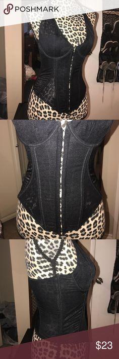 Victoria's Secret Corset Lingerie Great condition, shiny black material Victoria's Secret Intimates & Sleepwear Bras