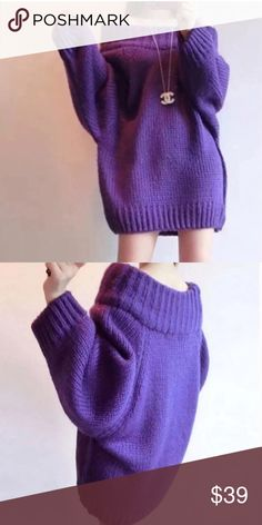 """LAST ONE @Pink slouchy mid-long sweater Super sexy and flirty. Material-acrylic. Size OS. Length-26-27"""". Bust- 40-42"""". NWOT Sweaters"""