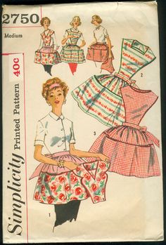 Vintage Apron Pattern, Simplicity #2750  Notice the price compared to patterns today!