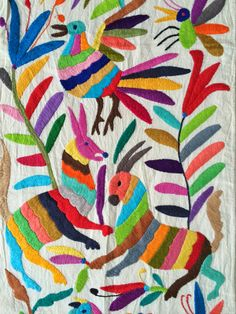 Otomi embroidery from Mexico.
