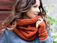 Tuubihuivi ja ranteenlämmittimet – Katso neuleohje: Kotiliesi. Knit tube scarf & wristband