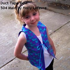 504 Main by Holly Lefevre: Retro and Rad Duct Tape Vest