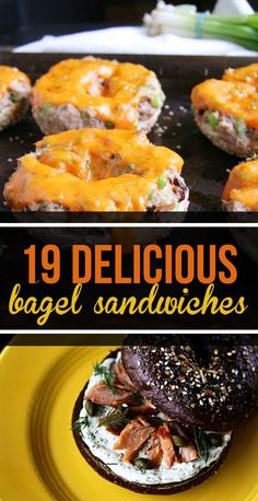 19 Bagel Sandwiches You'll Want To Put A Ring On There is no better place on earth to be than between the two halves of a bagel. Bagel Bar, Bagel Sandwich, Soup And Sandwich, Bagel Shop, Bagel Toppings, Sandwich Ideas, Sandwich Recipes, Breakfast And Brunch, Breakfast Recipes