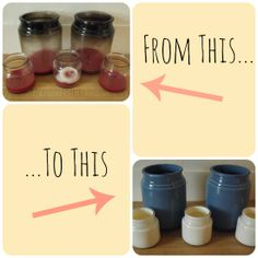 Candle Holders to Painted Vases #diy #candle #paint
