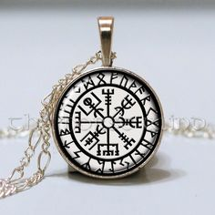 Vegvisir Viking Necklace Viking Compass Rune Necklace Norse Runes Pendant Viking…
