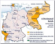 Germany's territorial changes during the 20th century.