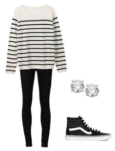 """""""Black and White"""" by vlhuerta ❤ liked on Polyvore featuring Ström and Vans"""