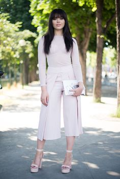 Pin for Later: 27 Outfit Hacks That Don't Require Any New Clothes Go monochrome — but add drama with your shoes.