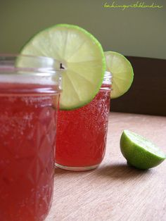 Baking with Blondie : Fresh Cherry Limeade