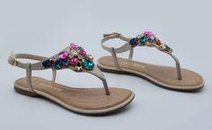 rasteiras - chinelos - rasteirinhas - sandálias - pedraria - summer - Verão 2016 - Ref. 15-10702