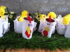 Kip met kuikens eierbakje