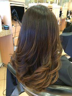 Bebe Salon - Garden Grove, CA, United States. Virgin hair to dark brown balayage by Kelly