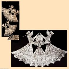Vintage Dancing Bonnet Girls Crochet Chair Set Pattern,   I bought this pattern on eBay.