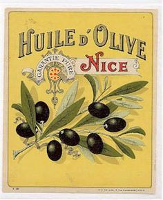 vintage french olive oil label