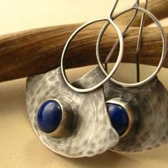 Lapis Lazuli Earrings - By Etsy's Mocahete, a handmade sterling silver & mixed metal artisan jewelry shop #jewellery