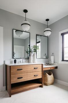Upstairs Bathrooms, Basement Bathroom, Bathroom Renos, Bathroom Furniture, Bathroom Styling, Bathroom Interior Design, Modern Bathroom, Small Bathroom, Vanity Bathroom