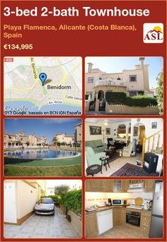 3-bed 2-bath Townhouse in Playa Flamenca, Alicante (Costa Blanca), Spain ►€134,995 #PropertyForSaleInSpain