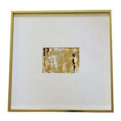 Abstract art - gold, black and white