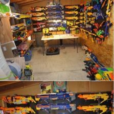 Nerf gun armory this reminds me of my brother he would love this