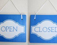 Entreprises signalisation ouvert fermé intérieur par Frameyourstory