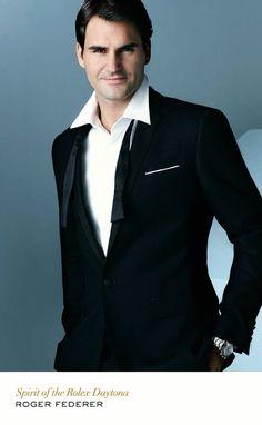 Roger Federer with Rolex Cosmograph Daytona. #RolexDaytona #RolexOfficial