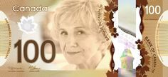 Imagine Alice Munro on a Canadian banknote. First Canadian to win the Nobel Prize for Literature. Sign the petition and make your own suggestions: http://womenonbanknotes.ca