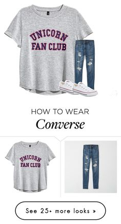 """""""Untitled #6804"""" by laurenatria11 on Polyvore featuring H&M, Abercrombie & Fitch and Converse"""
