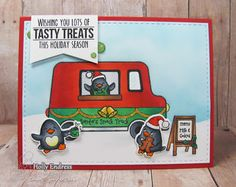 Your Next Stamp:  Waddles Food Truck Fun & the Waddles Food Truck Holiday set and dies #yournextstamp