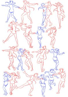 Dancing poses reference couple 70 Best Ideas - Fitness and Exercises, Outdoor Sport and Winter Sport Couple Poses Drawing, Couple Poses Reference, Drawing Body Poses, Human Poses Reference, Body Reference, Anatomy Reference, Reference Drawing, Dancing Sketch, Dancing Drawings