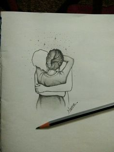 For this art work for a great artist it inspire me Easy Drawings Sketches, Cute Couple Drawings, Girl Drawing Sketches, Cool Art Drawings, Pencil Art Drawings, Romantic Drawing, Art Painting Gallery, Art Sketchbook, Lisa Cohen