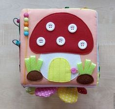 Activity Cube, Activity Toys, Activities, Baby Sensory Play, Felt Quiet Books, Busy Book, Handmade Toys, Felt Crafts, Educational Toys