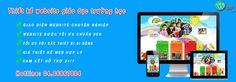 Dịch vụ thiết kế website giáo dục – trường học – đào tạo chuyên nghiệp là một trong những mô hình website được IUL chú trọng phát triển rất mạnh mẽ. Bởi website là một công cụ giúp các trường học, tổ chức giáo dục quảng bá hình ảnh, thương hiệu nhà trường trên internet, tiếp cận nhiều hơn học sinh, sinh viên và các bậc phụ huyên. Website: http://thietkewebshop.vn/